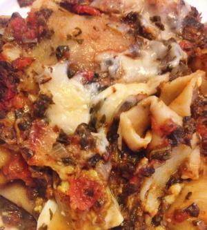 vegetarische lasagne met artisjok