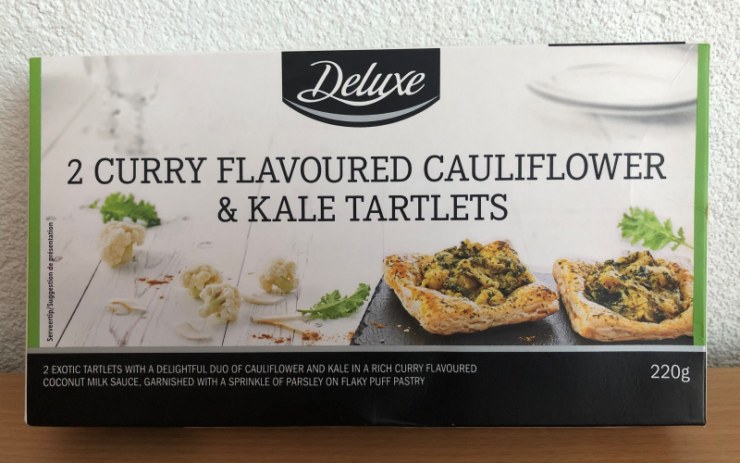 Verpakking van de curry taartjes van Lidl